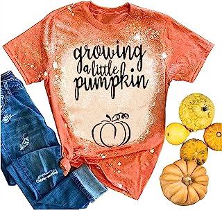 孕妇成长小南瓜 T 恤趣味字母印花南瓜束腰外衣孕妇妈妈夏季休闲上衣