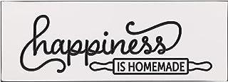 The Dancing Firefly - Happiness is Homemade (40.64 厘米 X 14.00 厘米) - 美国制造 - 雕刻黑白家居装饰标志
