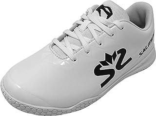 Salming Viper 儿童室内鞋白色中性青年毒蛇儿童室内鞋白色