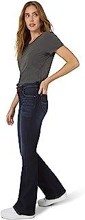 Lee 女式中腰喇叭牛仔裤