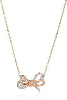 SWAROVSKI Women's Lifelong Bow Rose-Gold Finish Bangle Bracelet, Necklace & Earrings Crystal Jewelry Collection