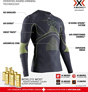 X-Bionic 男式 Energy Accumulator 4.0 圆领长袖 T 恤