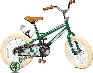 Sporty 儿童自行车时尚男孩和女孩自行车钢框 12-14-16-18-20 英寸带训练轮和支架水瓶,适合 2-10 岁幼儿和儿童 高 31-59 英寸