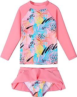 BAOHULU 女式泳装分体式泳衣两件式泳衣-上衣和裙子内置比基尼内裤
