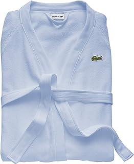 """LACOSTE 鳄鱼 Classic Pique 纯棉浴袍,天空蓝,41.5""""(约1.05米),L"""