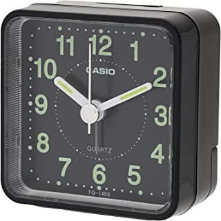 [Casio 卡西欧] 闹钟 指针式 旅行时钟 黑色 TQ-140S-1JF