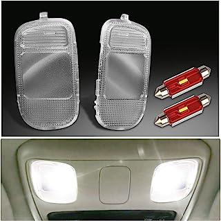 MbuyDIY 室内地图圆顶灯盖镜头顶架控制台带白色 LED 灯泡兼容 2002-2009 Dodge Ram 1500 2500 3500