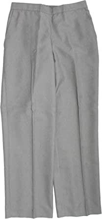Alfred Dunner 女式加大纯色无褶休闲裤