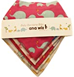 优质婴儿头巾围兜,* *棉,5 件套独特设计(女孩套装)