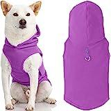 Gooby Dog 连帽衫羊毛背心 - 紫色,小号 - 带皮带环 - 冬季小狗狗毛衣 - 适合小狗女孩或男孩的狗狗背心适…