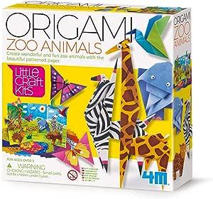 4M 404764 Animals Little Craft Origami 动物园动物园动物园动物,多色