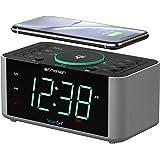 Emerson 闹钟收音机和 QI 无线手机充电器,带蓝牙,兼容 iPhone XS Max/XR/XS/X/8/Plu…