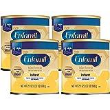 meadjohnson 美赞臣 Enfamil 铂睿 婴儿温和奶粉,21.1盎司,598克(4罐)-包含Omega 3…