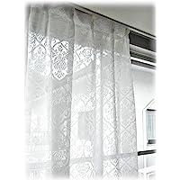 日本制造 起绒设计 镜像花边窗帘【LUXE 帆布】(1件) 200cm幅×133cm丈 5979