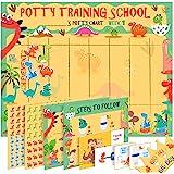 幼儿如厕训练图表 - 恐龙图案 儿童卡通图案 - 贴纸图,4 周*励图,证书,说明书等 - 男孩和女孩
