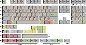 HK Gaming Dye 升华键帽 | Cherry Profile | 厚 PBT 键组,适用于机械键盘(139 键,帆布)