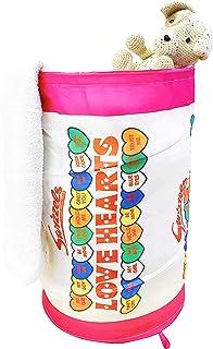 Swizzels 洗衣篮,涤纶,粉色/白色,56 x 36 x 36 厘米
