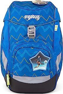 ERGOBAG LiBearo 2:0 儿童背包,35 厘米,20 升,Zig Zag Blue Green