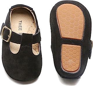 THEE BRON 女婴软底玛丽珍连衣裙步行运动鞋