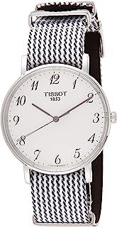 Tissot 男式石英不锈钢手表,颜色:双色(型号:T1094101803200)