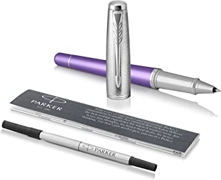 Parker 派克 Urban 都市系列圆珠笔 不能替代笔芯 Rollerball Geschenkbox Violet Chrome trim