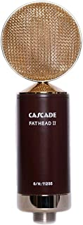 Cascade Microphones Ribbon Microphone, Fat Head II Deluxe w/LUNDAHL LL2913 Transformer, Brown Body/Gold Grill (99-GG-A)