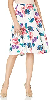 Ellen Tracy 女士接缝喇叭裙