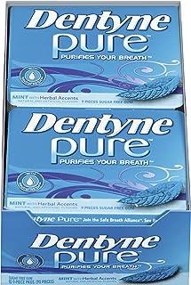 Dentyne Pure 无糖口香糖 (草本薄荷 9块 10件装)