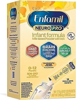 Mead Johnson 美赞臣 NeuroPro 婴儿配方奶粉,MFGM、欧米茄3 DHA、铁,0.6盎司/17.6克,14包装