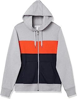 Amazon Essentials 男士全拉链连帽羊毛运动衫