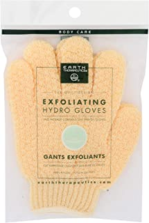 Earth Therapeutics Exfoliating Hydro Gloves-天然 1 件 1