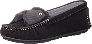 LANVIN en Bleu 莫卡辛鞋 542486 女士 黑色绒面 23.5 厘米 e