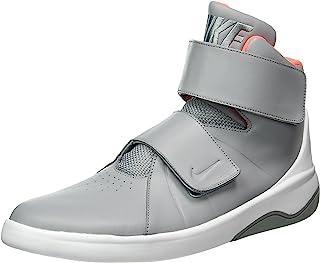Nike marxman 男式黑色皮革高帮系带运动鞋