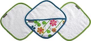 JJ Cole毛巾和沐浴手套套装,3件装 Pink/Green/Blue/Yellow/White/Orange