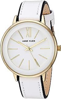 Anne Klein AK / 3252WTBK 女士重音皮革表带手表