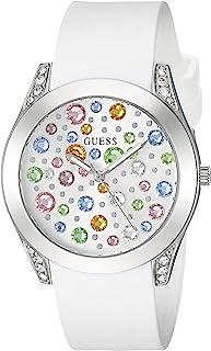 GUESS 银色和白色宝石手表