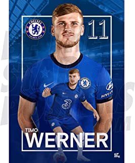 Be The Star Posters Chelsea FC 2020/21 Timo Werner A2 足球海报/印刷/墙艺术 - 官方*产品 - 提供 A3 和 A2 (A2)