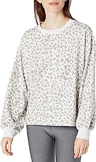 Danskin 女式舒适豹纹运动衫