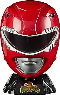 Power Rangers 闪电系列 Mighty Morphin Red Ranger 高级收藏头盔 全尺寸陈列,角色扮演游戏