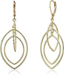 Anne Klein 女士金色钻石纹理轨道耳环