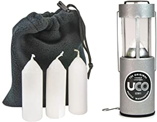 UCO 原装蜡烛灯超值包,带 3 根蜡烛和储物袋