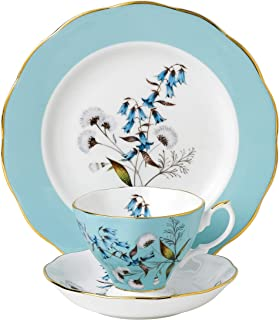Royal Albert 3 件 100 年 1950 茶杯、茶托及盘子套装,8 英寸,多色