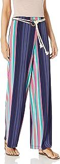 Chaus 女士条纹涤纶长裤