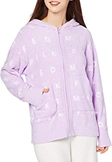 MILKFED睡衣上衣 FLUFFY ZIP UP HOODIE 女士