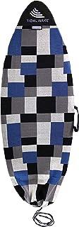 Tidal Wake TAG-IT 圆鼻冲浪和唤醒板袜袋,内置提手和姓名标签,60 英寸(约 152.4 厘米)标签您的包 - 个性化定制您的名字! (蓝色和灰色 Colorblox 设计)