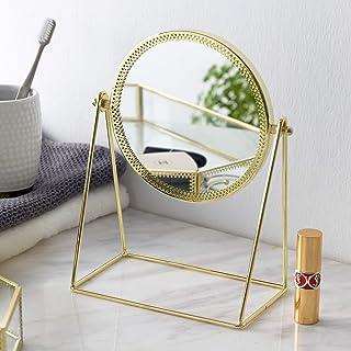 化妆镜,桌面镜360°度旋转,装饰化妆镜,Rosegolden(金色)