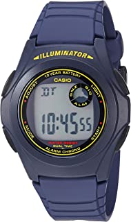 Casio 卡西欧 F200W-2B 中性款蓝色双时间闹钟数字手表