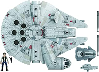 Star Wars 任务舰队韩独奏千年隼 2.5 英寸比例公仔和车辆,适合 4 岁及以上儿童