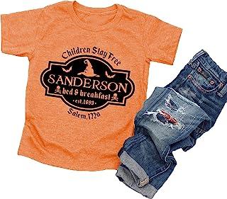 万圣节 T 恤幼儿男孩女孩 Sanderson Sisters 字母印花短袖图案 T 恤上衣