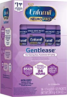 meadjohnson 美赞臣 Enfamil 铂睿 NeuroPro Gentlease 婴儿温和奶粉,14包(每包17.4克)-含有MFGM,Omega 3 DHA,益生元,以及铁